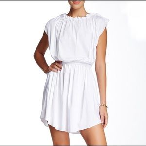 Rachel Zoe Shirred Boatneck Dress